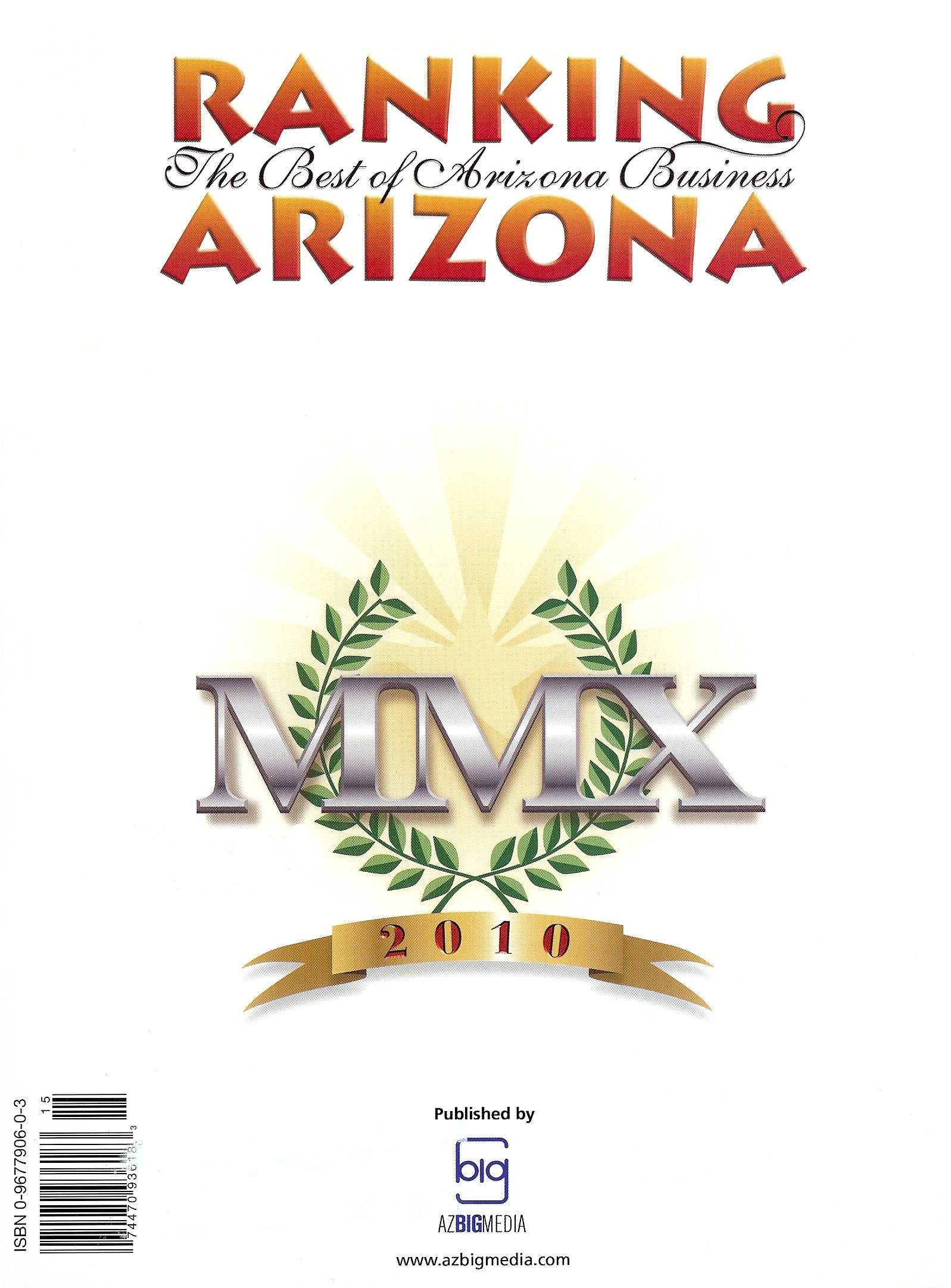 Ranking Arizona Award - The Best of Arizona Business
